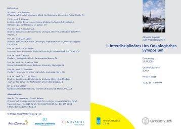 1. Interdisziplinäres Uro-Onkologisches ... - Klinik für Urologie