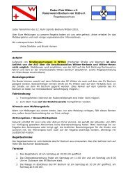 Ruder-Club Witten e.V. Ruderverein Bochum von ... - Regatten Bo/Wit