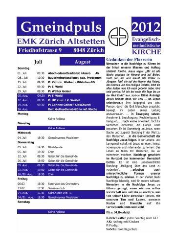 Gmeindpuls 2012 - bei der EMK Zürich-Altstetten