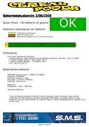 Batteriestatusbericht 2/06/2008 - Emrol