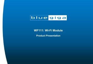 WF111: Wi-Fi Module - Smartcore.com.br