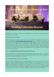 7 Creative Ways to Save Money on Your Wedding Celebration Blossoms