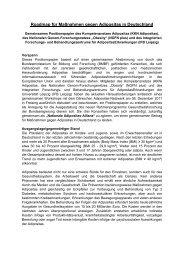 Roadmap für Maßnahmen gegen Adipositas in Deutschland - NGFN