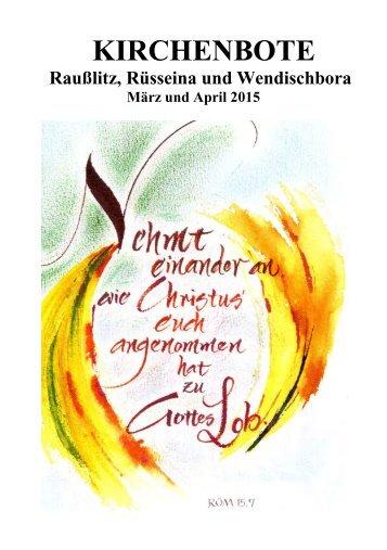 Kirchenbote 2015 März-Apr