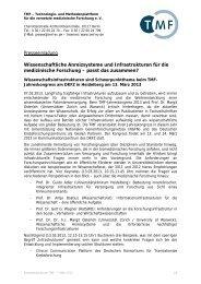 Presseeinladung Wissenschaftliche Anreizsysteme und ... - NGFN