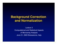 Background Correction and Normalization - Computational Statistics ...