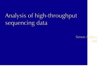 Analysis of high-throughput sequencing data - Computational ...