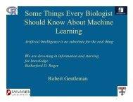 Machine Learning - Computational Statistics for Genome Biology
