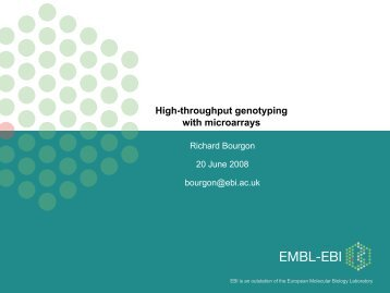 Genotyping - Computational Statistics for Genome Biology