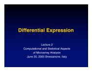 Differential Expression - Computational Statistics for Genome Biology