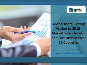 Global Market Demand for Metal Spring Market to 2018