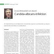 Candida-albicans-Infektion - Infektionsnetz