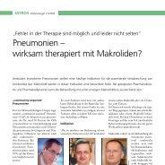Pneumonien – wirksam therapiert mit Makroliden? - Infektionsnetz