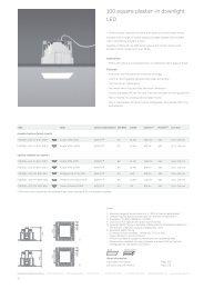 100 square plaster-in downlight LED - WhiteGoods