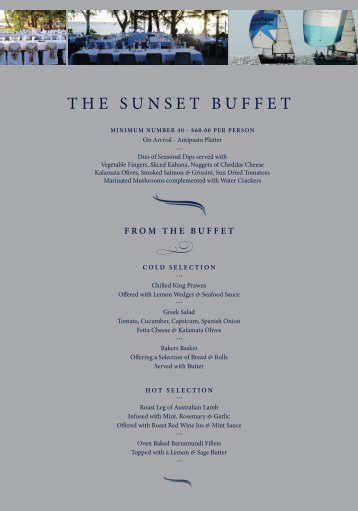 The SunSeT BuFFeT
