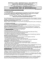 Informationen BOS 2011-12 - Berufliche Oberschule Bayreuth