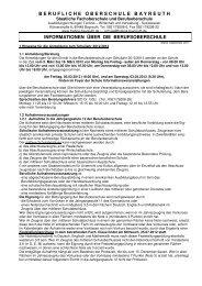 Informationen BOS 2012-13 - Berufliche Oberschule Bayreuth