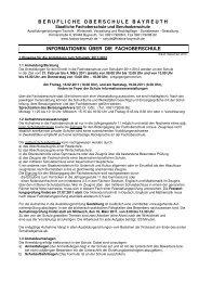 Informationen FOS 2010-11 - Berufliche Oberschule Bayreuth