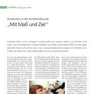 """Antibiotika in der Kinderheilkunde - """"Mit Maß und Ziel"""" - Infektionsnetz"""