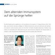 Dem alternden Immunsystem auf die Sprünge helfen - Infektionsnetz