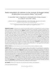 Studio naturalistico di confronto tra due strategie di ... - Labome.Org