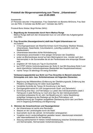 """Protokoll zum """"Runden Tisch"""" i der Melanchthon Gemeinde vom 09"""
