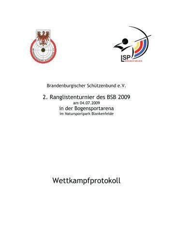 Ergebnisse des 2. Ranglistenturniers des BSB und Stand der ...