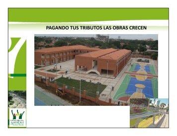 pagando tus tributos las obras crecen - Santa Cruz de la Sierra