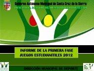Juegos estudiantiles 2012 - Santa Cruz de la Sierra