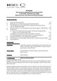 Protokoll der Rechnungsschulgemeindeversammlung 19. Mai 2010