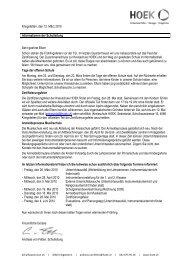 Informationen viertes Quartal 2010