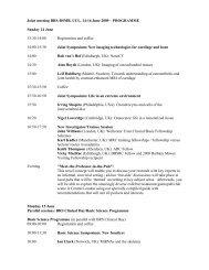 Joint meeting BRS-BSMB, UCL, 14-16 June 2009 – PROGRAMME ...