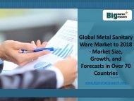 Global Market Demand on Metal Sanitary Ware Market to 2018