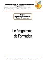 Informations concernant la formation
