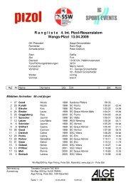 4. Int. Pizol-Riesenslalom - ALGE-TIMING Schweiz