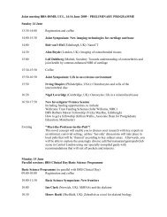 Joint meeting BRS-BSMB, UCL, 14-16 June 2009 – PRELIMINARY ...