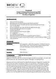 Protokoll Budgetgemeinderversammlung 23.09.2009