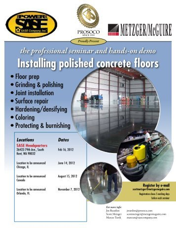 Installing polished concrete floors