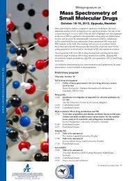 Mass Spectrometry of Small Molecular Drugs - SwedenBio