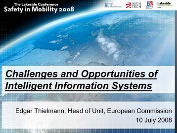Challenges and Opportunities of Intelligent Information Systems