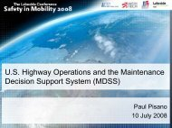 U.S. Highway Operations and the Maintenance Decision Support ...