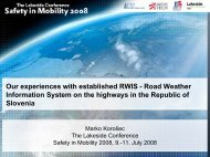 Our experiences with established RWIS - Road Weather Information ...