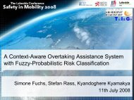 A Context-Aware Overtaking Assistance System with Fuzzy ...