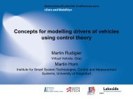 Concepts for modelling drivers of vehicles using control theory
