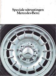Speciale uitrustingen Mercedes-Benz