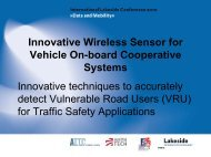 Innovative Wireless Sensor for Vehicle on Board Cooperative Systems