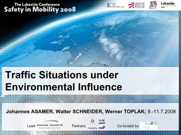 Traffic Situations under Environmental Influence - Lakeside ...