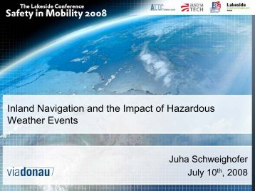 Inland Navigation and the Impact of Hazardous Weather Events