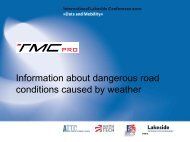 Information about Dangerous Road Conditions caused by Weather