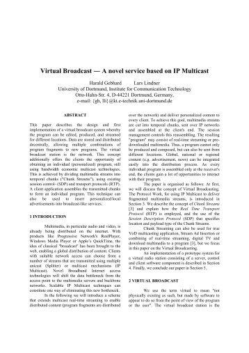 Virtual Broadcast - A novel service based on IP Multicast